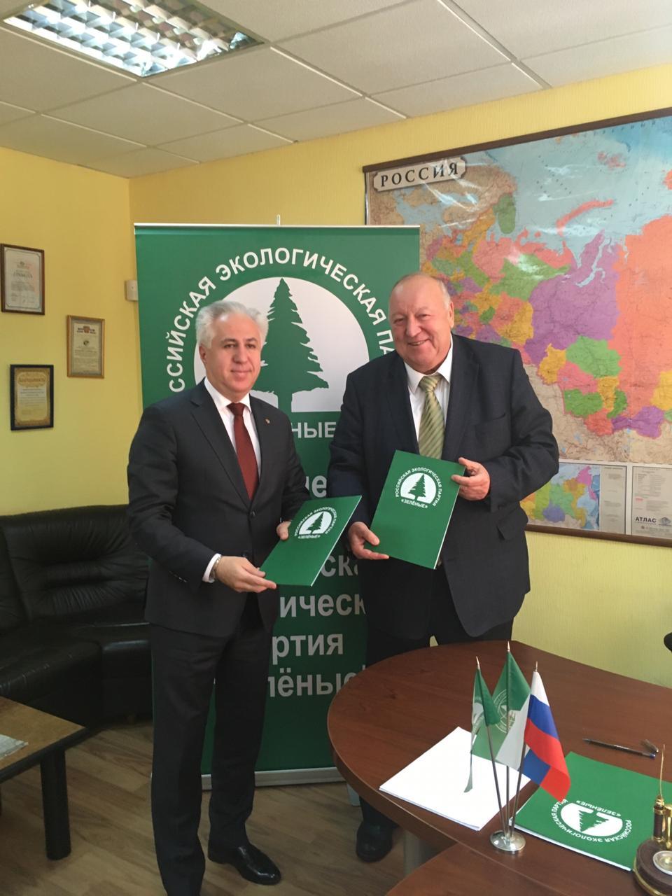 Российская экологическая партия Зеленые и Рашид Исмаилов