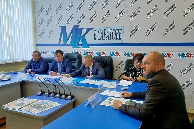 Саратовской региональное отделение Россиийского экологического общества на пресс-конференции «Московского комсомольца»