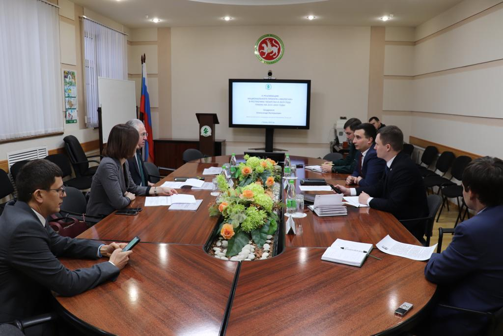 Встреча Рашида Исмаилова с руководством Минэкологии Республики Татарстан