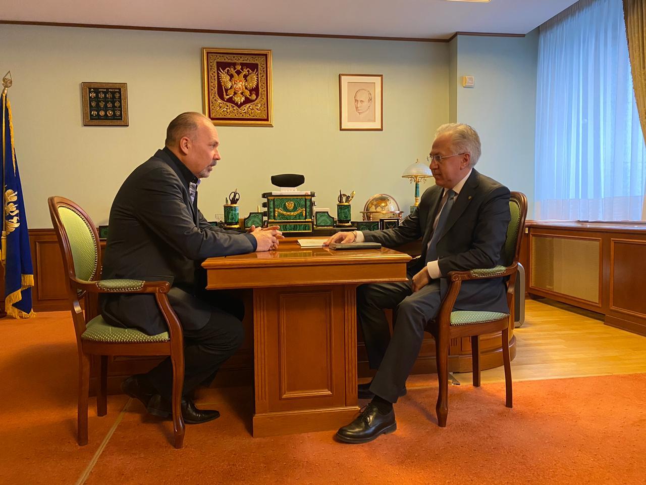Рабочая встреча Михаила Меня и Рашида Исмаилова