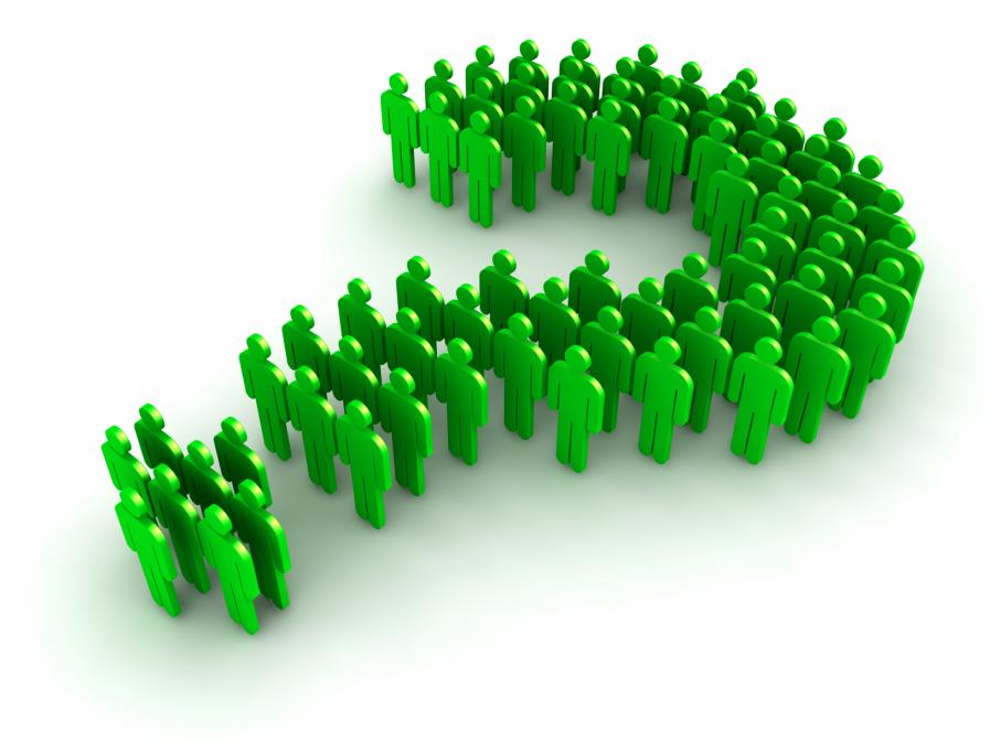 Вопросительный знак из зеленых человечков