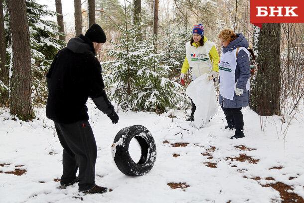 Коми отделение Российского экологического общества приняло участие в экологической акции «Речная лента»