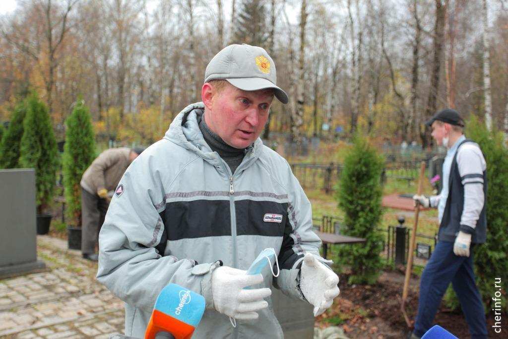 В Череповце массовой высадкой туй закрыли сезон озеленения