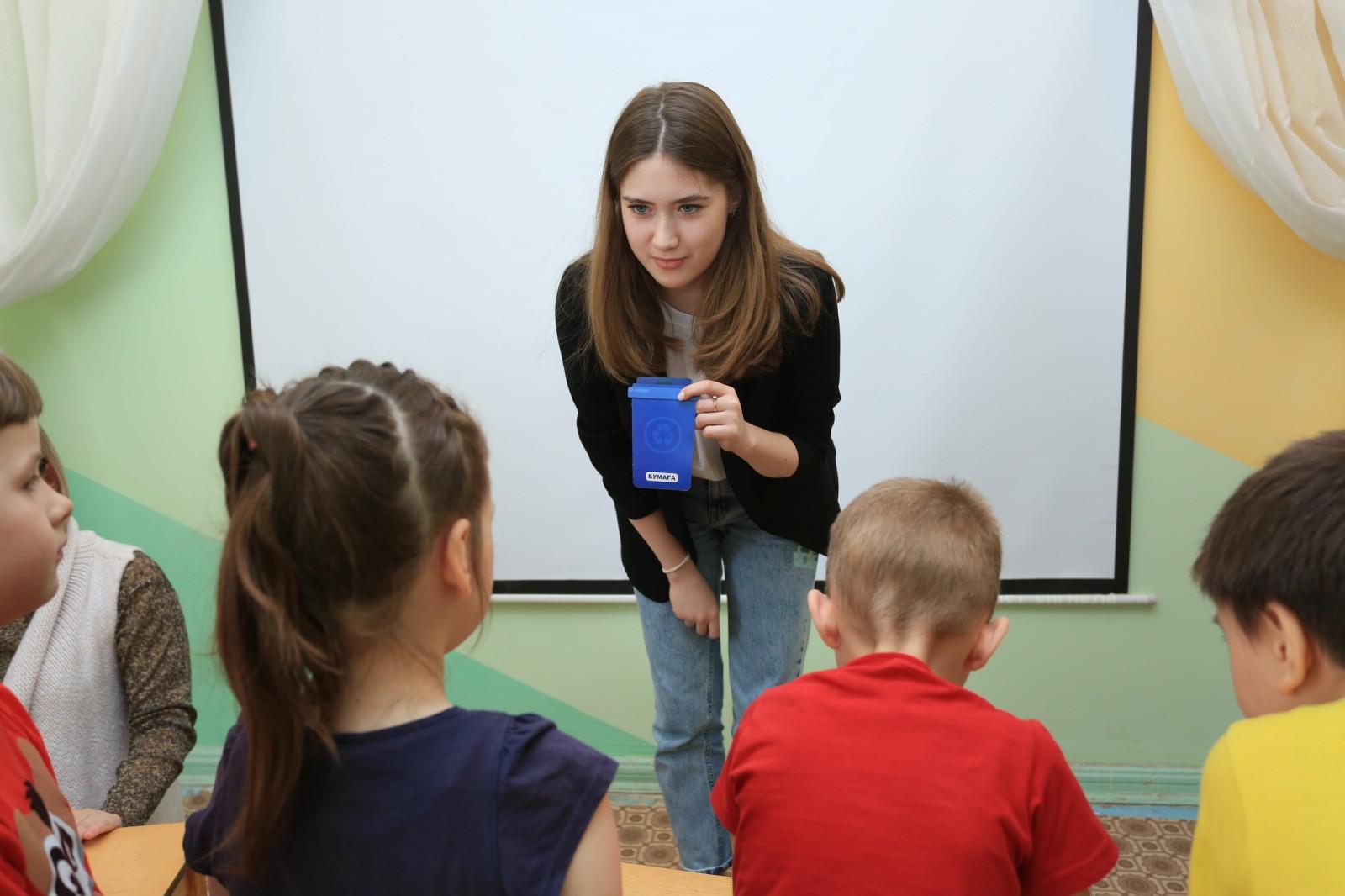 Представитель Самарского отделения Российского экологического Анна Половцева провела экоурок в д/с «Надежда»