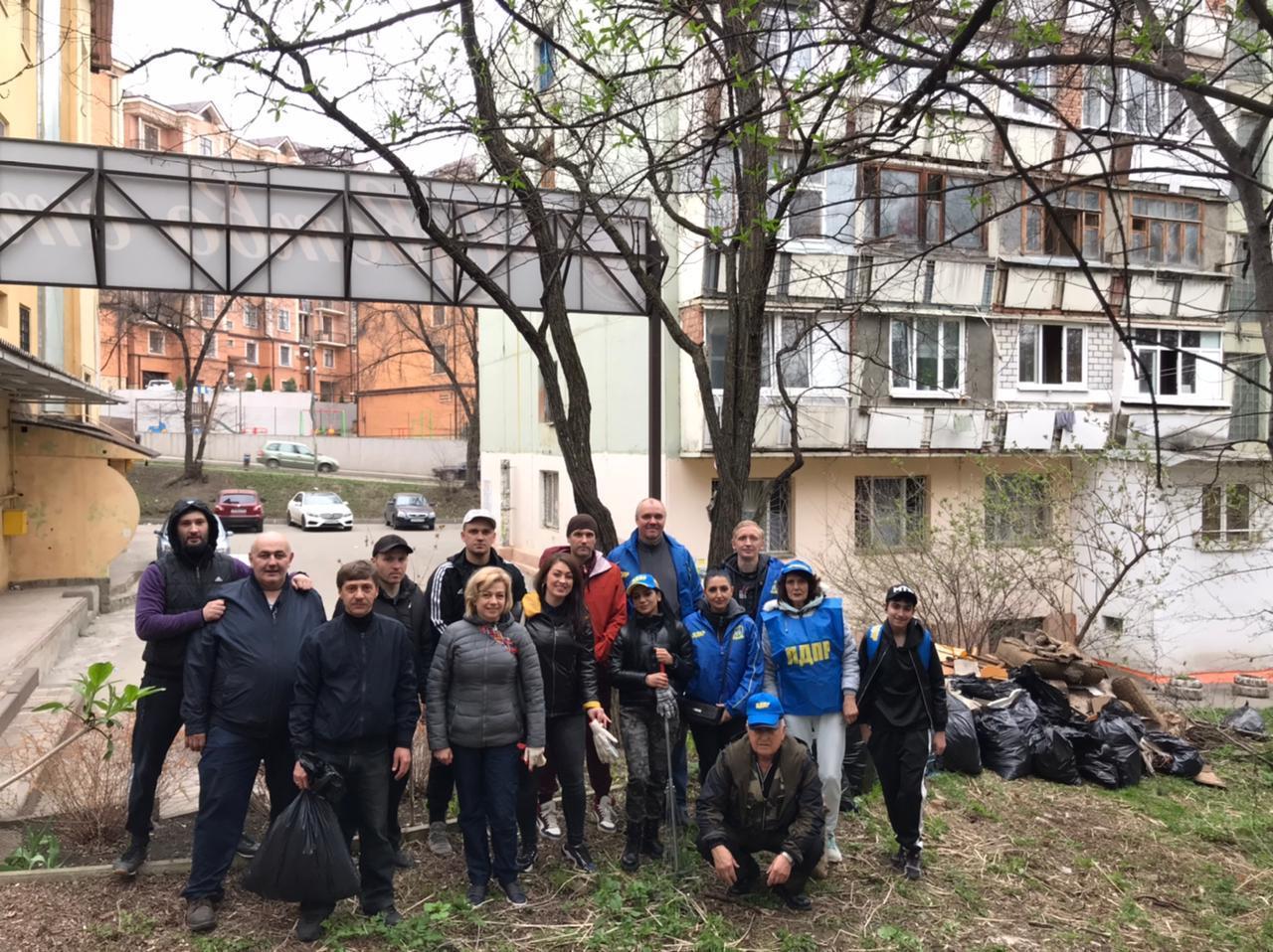 Представители отделения Российского экологического общества по Ставропольскому краю вышли на экологический субботник