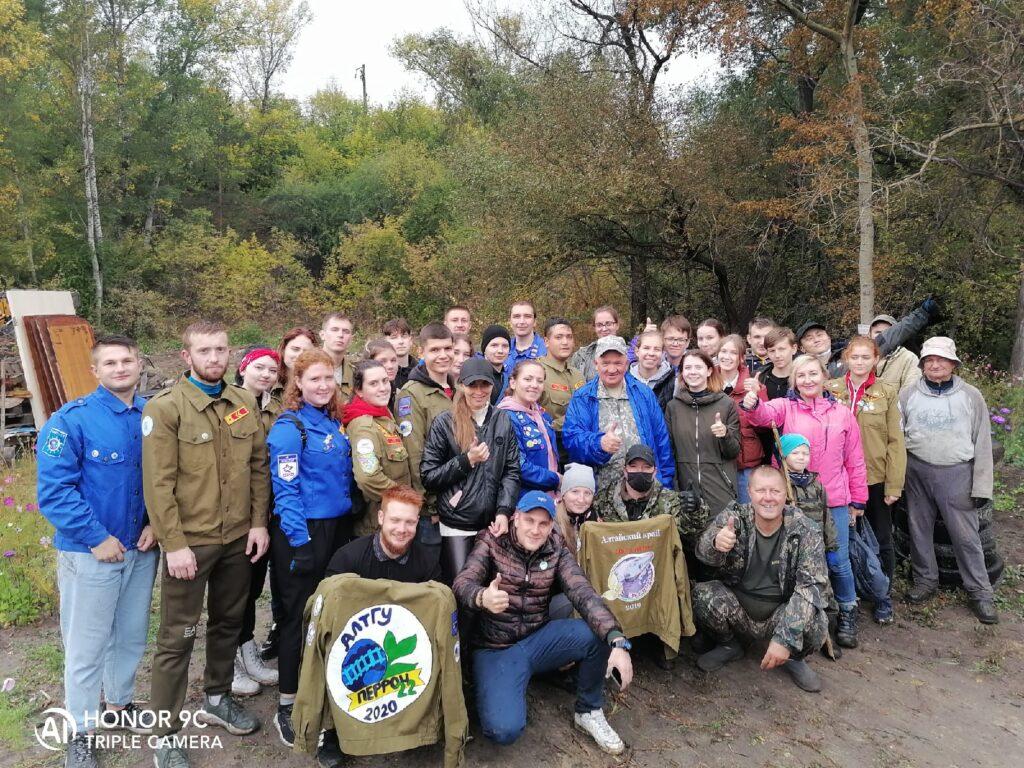 Российское экологическое общество организовало и провело очистку реки Пивоварка в Барнауле